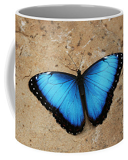 Blue Morpho #2 Coffee Mug by Judy Whitton