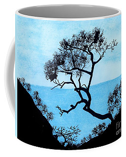 Coffee Mug featuring the drawing Blue Mountain by D Hackett
