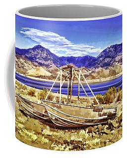 Coffee Mug featuring the painting Blue by Muhie Kanawati