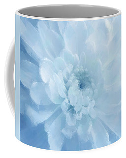 Blue Mum Luminous Painted Blossom Coffee Mug