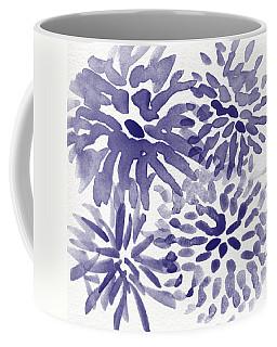Blue Mums- Watercolor Floral Art Coffee Mug