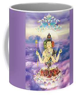 Coffee Mug featuring the photograph Blue-neck Kuan Yin by Lanjee Chee
