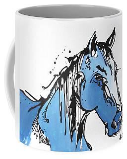 Coffee Mug featuring the painting Blue by Nicole Gaitan