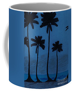 Blue - Night - Beach Coffee Mug