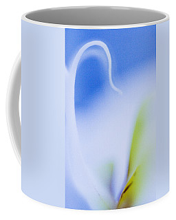 Coffee Mug featuring the photograph Blue Orchid Abstract by Bradley R Youngberg