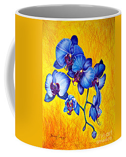 Blue Orchids 1 Coffee Mug