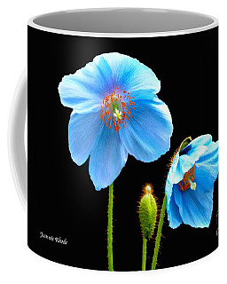 Blue Poppy Flowers # 4 Coffee Mug