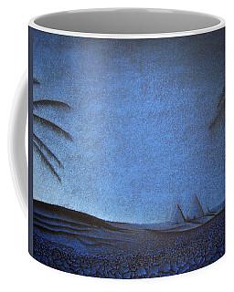 Coffee Mug featuring the drawing Blue Pyramid by Mayhem Mediums