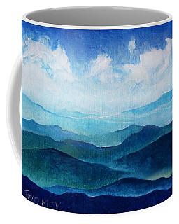 Blue Ridge Blue Skyline Sheep Cloud Coffee Mug