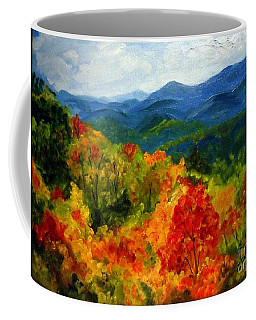 Blue Ridge Mountains In Fall Coffee Mug
