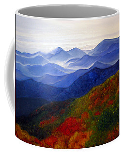 Coffee Mug featuring the painting Blue Ridge Mountains Of West Virginia by Katherine Miller