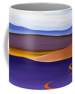 Blue Ridge Orange Mountains Sky And Road In Fall Coffee Mug