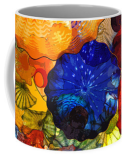 Coffee Mug featuring the digital art Blue Rose by Kirt Tisdale