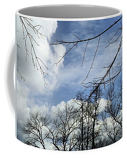 Coffee Mug featuring the photograph Blue Skies Of Winter by Robyn King