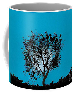 Coffee Mug featuring the drawing Blue Sky Moon by D Hackett