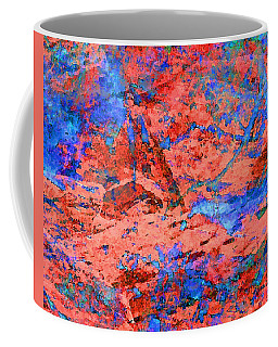 Blue Splash Poppy Rock Coffee Mug