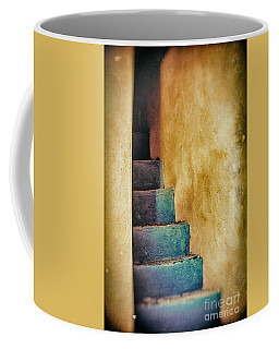 Blue Stairs - Yellow Wall    Coffee Mug