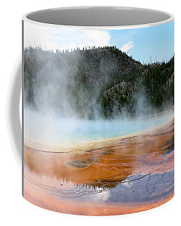 Coffee Mug featuring the photograph Blue Steam by Laurel Powell