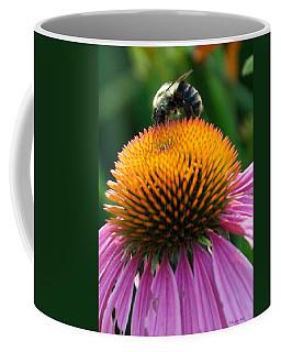 Blue Striped Bee Coffee Mug