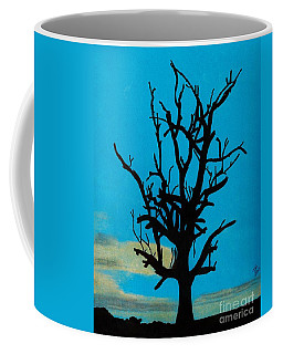 Coffee Mug featuring the drawing Blue Sunset by D Hackett