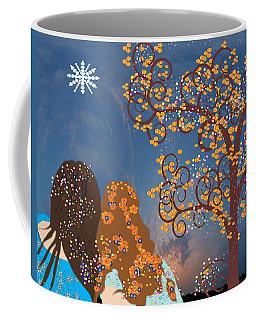 Blue Swirl Girls Coffee Mug by Kim Prowse