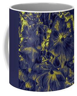 Blue Tango Floral Coffee Mug by Jean OKeeffe Macro Abundance Art