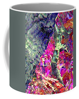 Coffee Mug featuring the photograph Blue Tree Pink Leaves by Stephanie Grant