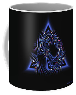 Blue Triangle Jewel Abstract Coffee Mug