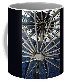 Blue Umbrella Underpinnings Coffee Mug by Kathy Barney