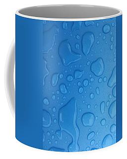 Blue Water Drops Coffee Mug