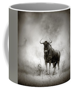 Blue Wildebeest In Rainstorm Coffee Mug