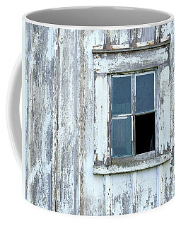 Blue Window In Weathered Wall Coffee Mug