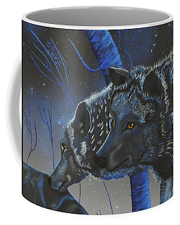 Blue Wolves With Stars Coffee Mug