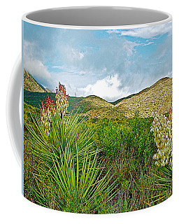 Blue Yucca And Chisos Mountains In Big Bend National Park-texas Coffee Mug