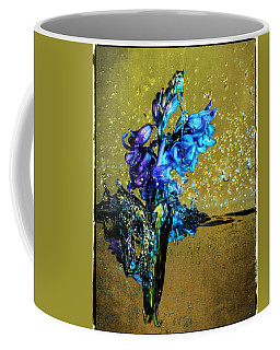 Coffee Mug featuring the mixed media Bluebells In Water Splash by Peter v Quenter