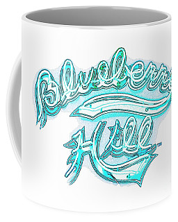 Blueberry Hill Inverted In Neon Blue Coffee Mug