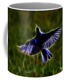 Bluebird In Flight Coffee Mug