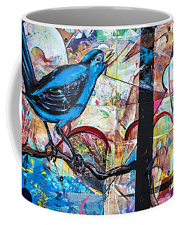 Bluebird Sings With Happiness Coffee Mug