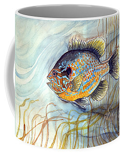 Coffee Mug featuring the painting Bluegill by Katherine Miller