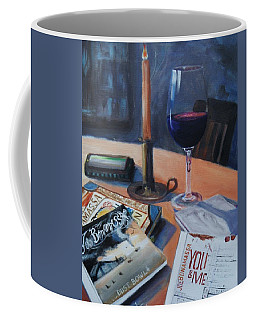 Blues And Wine Coffee Mug by Donna Tuten