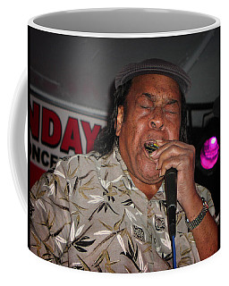Coffee Mug featuring the photograph Bluesman James Cotton by Mike Martin