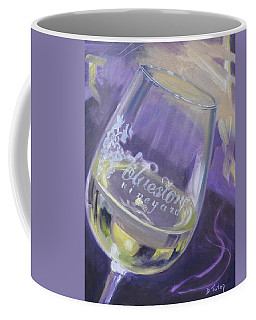 Bluestone Vineyard Wineglass Coffee Mug by Donna Tuten