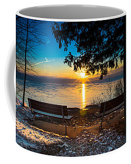 Bluff  Benches Coffee Mug by James  Meyer