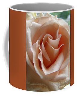 Coffee Mug featuring the photograph Blushing Rose by Margie Amberge
