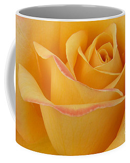 Blushing Yellow Rose Coffee Mug