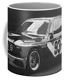 Coffee Mug featuring the painting Bmw 3.0 Csl Alexander Calder Art Car by Richard Le Page