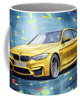 Bmw M4 Blue Coffee Mug