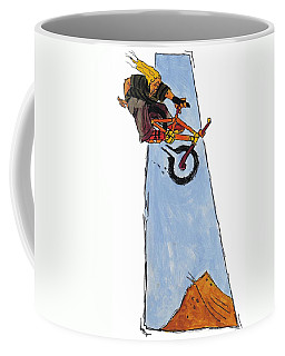 Bmx Drawing Coffee Mug