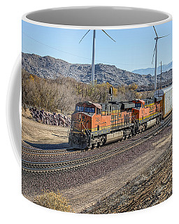 Coffee Mug featuring the photograph Bnsf 7454 by Jim Thompson