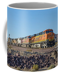 Coffee Mug featuring the photograph Bnsf 7649 by Jim Thompson